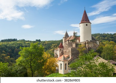 Famous Czech medieval castle of Krivoklat, central Czech Republic