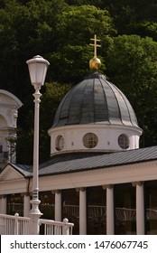 An famous czech spa city collonade building.