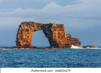 Famous Darwin's Arch in Galapagos in Ecuador