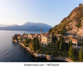 Famous destination on Como lake in Italy. Village of Varenna