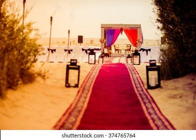 Famous destination wedding place in Dubai desert