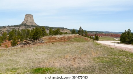 """Famous Devils Tower National Monument in Wyoming, USA played main role in """"Close Encounters of the Third Kind""""."""