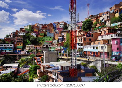 Famous District 13 of Medellin, Colombia, South America