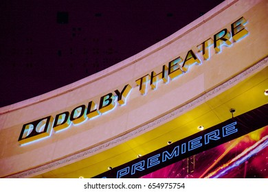 Famous Dolby Theater in Hollywood - Home of the Oscars - LOS ANGELES / CALIFORNIA - APRIL 20, 2017