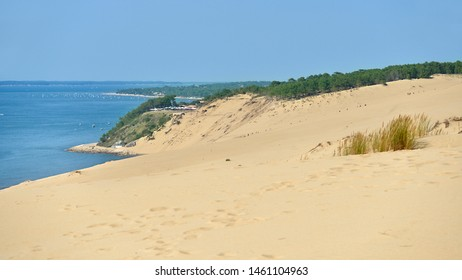 Famous Dune of Pilat sea side located in La Teste-de-Buch in the Arcachon Bay area, in the Gironde department in southwestern France
