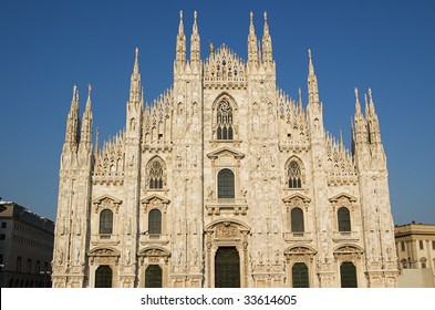 The famous Duomo, cathedral church of Milan in Lombardy, Italy