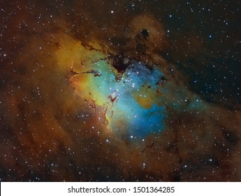 Famous Eagle Nebula with Pillars Of Creation