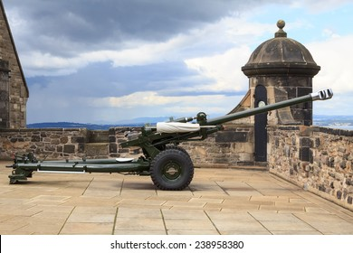 The famous Edinburgh cannon which shoots at one o'clock for correct time keeping at the castle