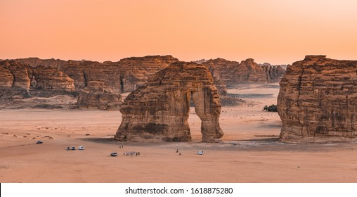 The famous Elephant Rock of Al-Ula, Saudi Arabia.