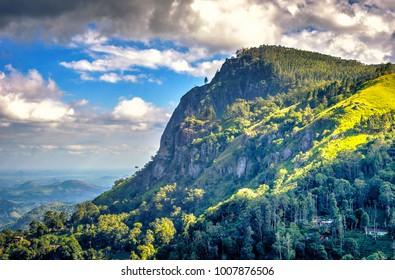 Famous Ella rock mountain in central Sri Lanka