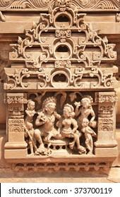 Famous erotic human sculptures at temple, Rajasthan, India