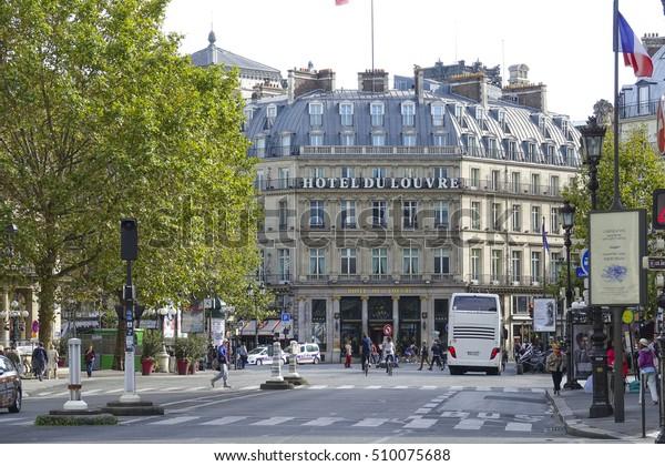 Famous Exclusive Hotel Du Louvre Paris Stock Photo (Edit Now