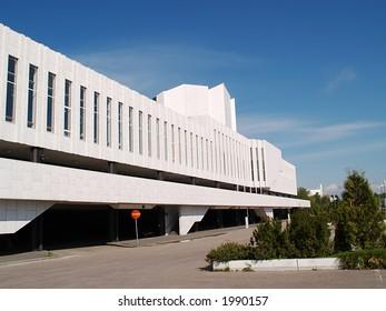 Famous Finlandia Hall, close-up