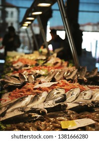 The famous fish market in Venezia is starting.