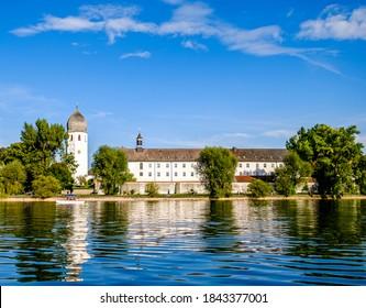 famous fraueninsel at the chiemsee lake - bavaria - germany