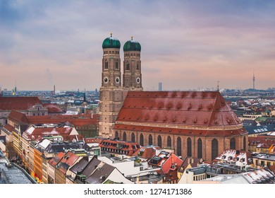 The famous Frauenkirche in Munich, Germany