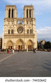 Famous French cathedral Notre Dame in Paris.