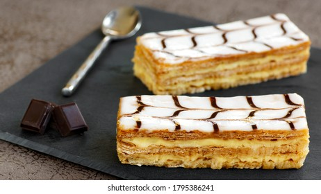 famous french dessert : the mille-feuille