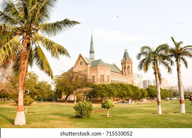 The famous Frere Hall located in Karachi, Pakistan. This building dates back from the early British colonial-era and was completed in 1865. It now serves as an exhibition hall and library.