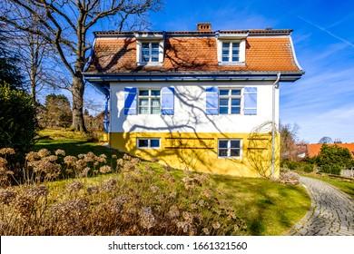 famous gabrielle muenter house in murnau - bavaria