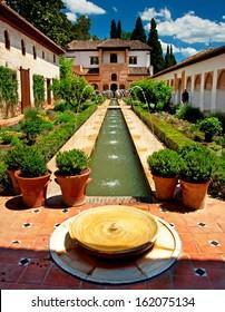 The famous Generalife in Granada, Spain