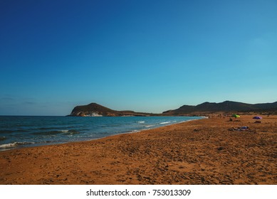 Famous Genoveses Beach, in Cabo de Gata - Nijar Natural Park - Almeria, Andalusia, southern Spain