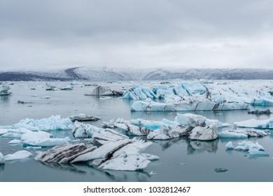 Jökulsárlón, the famous glacier lagoon in Iceland