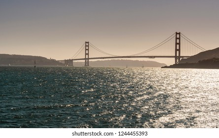 famous Golden Gate Bridge, San Francisco at afternoom, USA