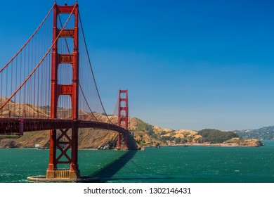 The famous Golden Gate Bridge in San Francisco, one of the great symbols of the United States, California