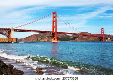 Famous Golden Gate Bridge in San Francisco, USA.