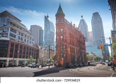 Famous Gooderham building in downtown Toronto, Ontario, Canada