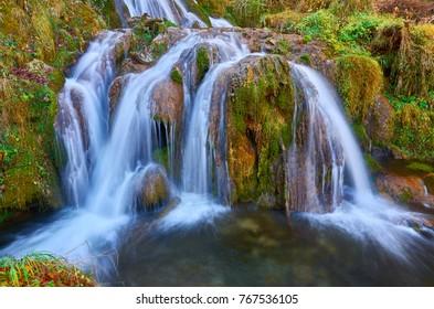 Famous Gostilje waterfall in Zlatibor, Serbia.