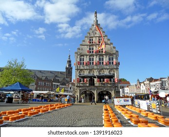 Famous Gouda Cheese Market Held on Every Thursday Mornings from April to August, Gouda City Hall, The Netherlands, 15th May 2014