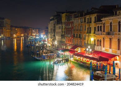 Famous Grand Canal at night, Venice, Italy
