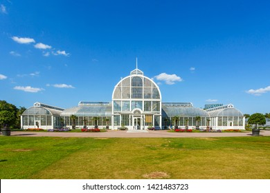 Famous greenhouse in Garden Society of Gothenburg in Sweden