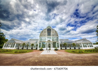 "Famous Greenhouse (""Palmhuset"") in a Park in Gothenburg, Sweden"