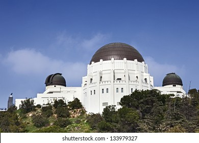 Famous Griffith Observatory in Los Angeles, USA