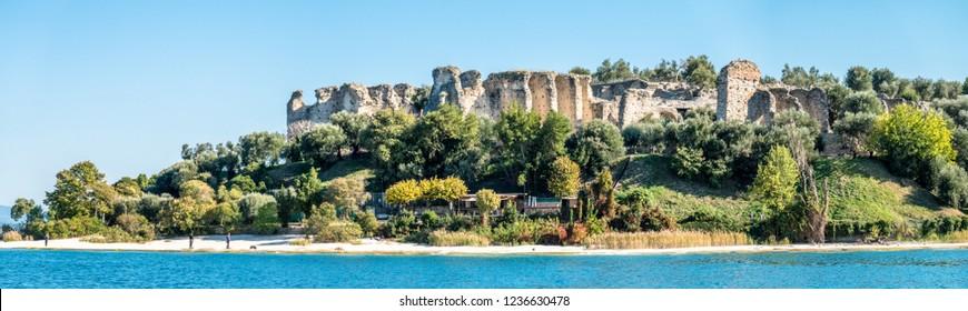 famous Grotte di Catullo - italy - lago garda