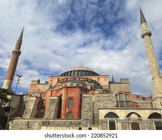 The famous Hagia Sophia mosque.Constantinople was built as a church in the period. Open as a museum now. Tourism center in Istanbul Turkey.