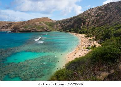 Famous Hanauma Bay, Snorkeling O'ahu, Hawaii