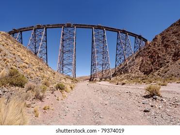 "Famous high altitude Train to the Clouds, ""Viaduct La Polvorilla"", Salta, Argentina"
