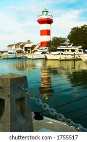The famous Hilton Head Harbor town Lighthouse. More with keyword Group12C.