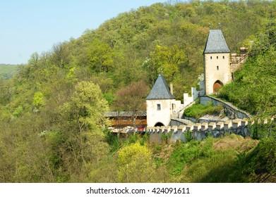 The famous historic castle - Karlstein, Czech Republik