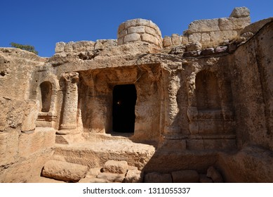 Famous Historical Cave Of The Seven Sleepers Entrance Amman Jordan