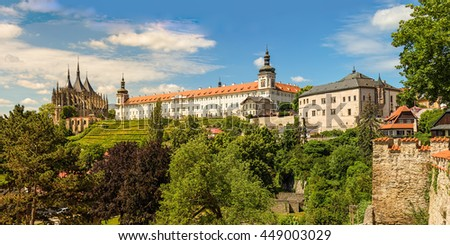 Famous historical panorama of Kutna Hora, the historical city near Prague, Czech Repubic, Europe