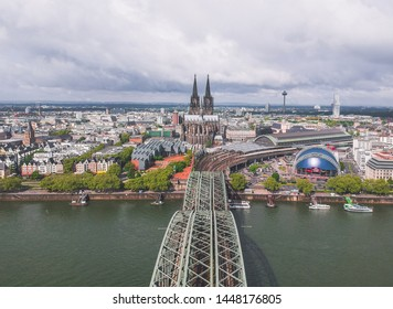 Famous Hohenzollern Bridge and Cologne Cathedral, Germany
