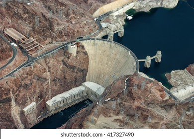 Famous Hoover Dam between Arizona and Nevada, USA