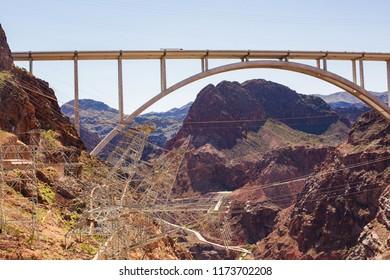 Famous Hoover Damn Bridge. USA, Nevada-Arizona