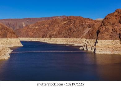 Famous Hoover Damn on Sunny Day at the Nevada-Arizona border.