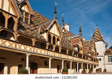 Famous hospice (Hotel Dieu) in Beaune, France